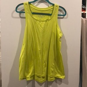 NWOT Soma Sport green/yellow Workout Top